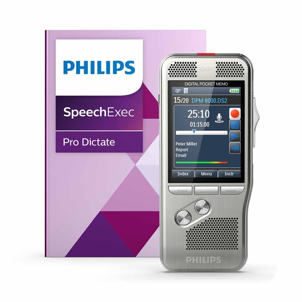 PocketMemo (Slide Switch) with SpeechExec Pro Dictate 10 and Speech Recognition PSE8000
