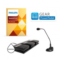 Gear PowerPedal Waterproof Foot Pedal Control w/ Philips Speechexec Pro Dictate Software
