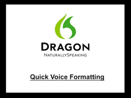 Dragon 10 Quick Voice Formatting