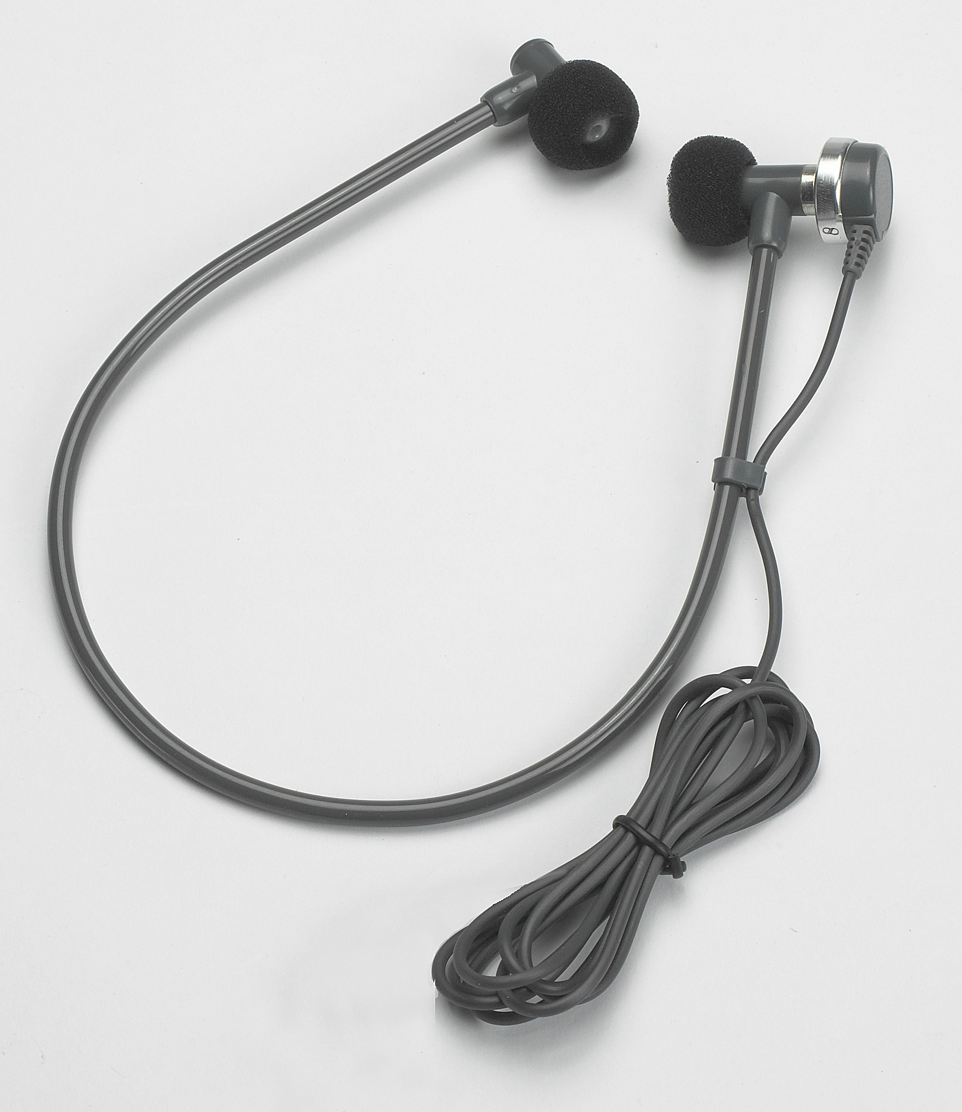 Under Chin U-Bow Tubular Headset with Straight 3.5 mm Plug