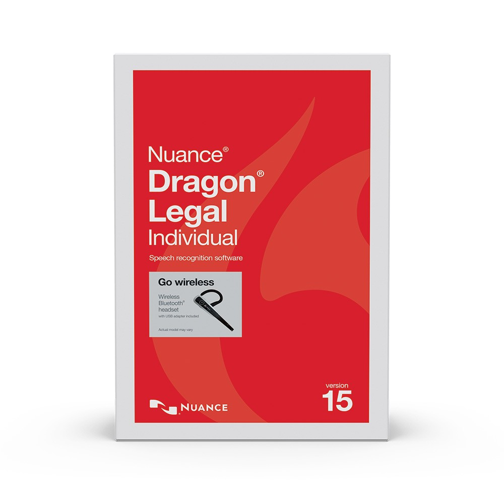 Dragon Legal Individual v15, CD with Wireless Bluetooth