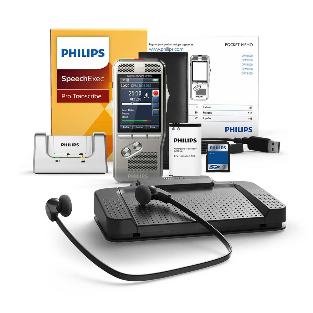DPM8000 Digital Recorder with LFH7277 Transcription Kit