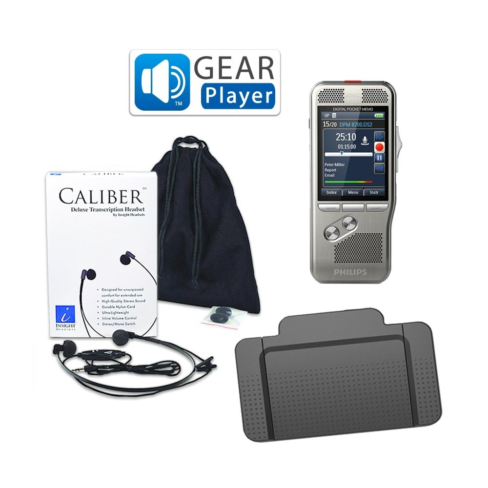 Philips DPM8100 with GearPlayer Digital Dictation Starter Kit