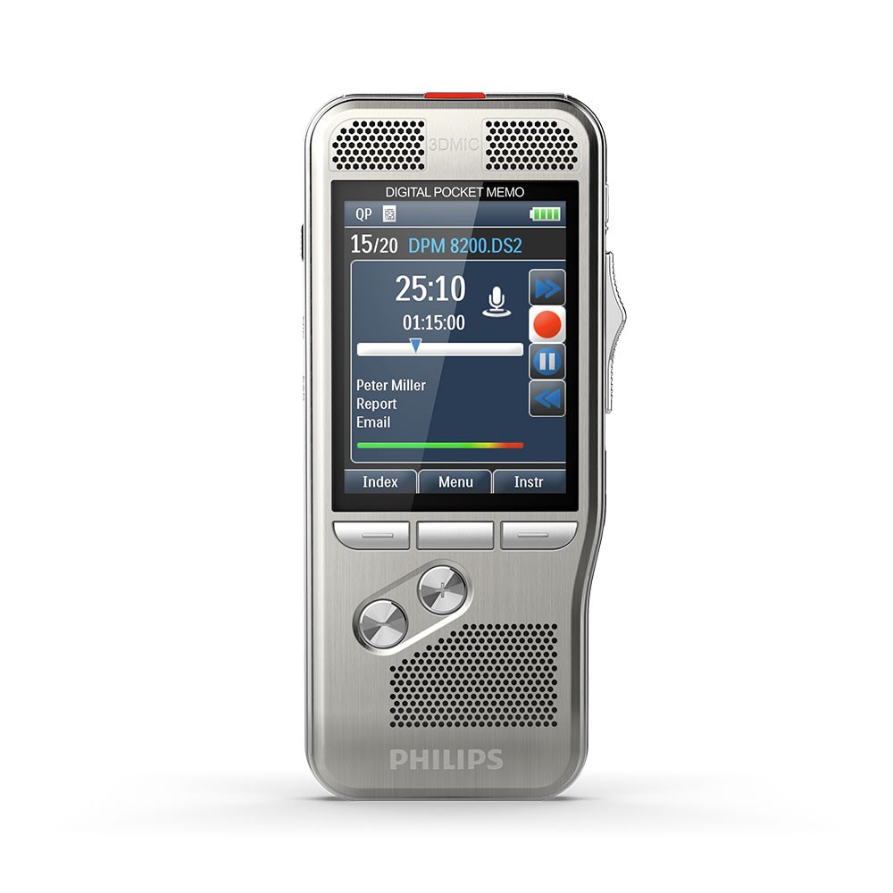 Philips DPM8500 Pocket Memo Digital Voice Recorder with Integrated Barcode Scanner