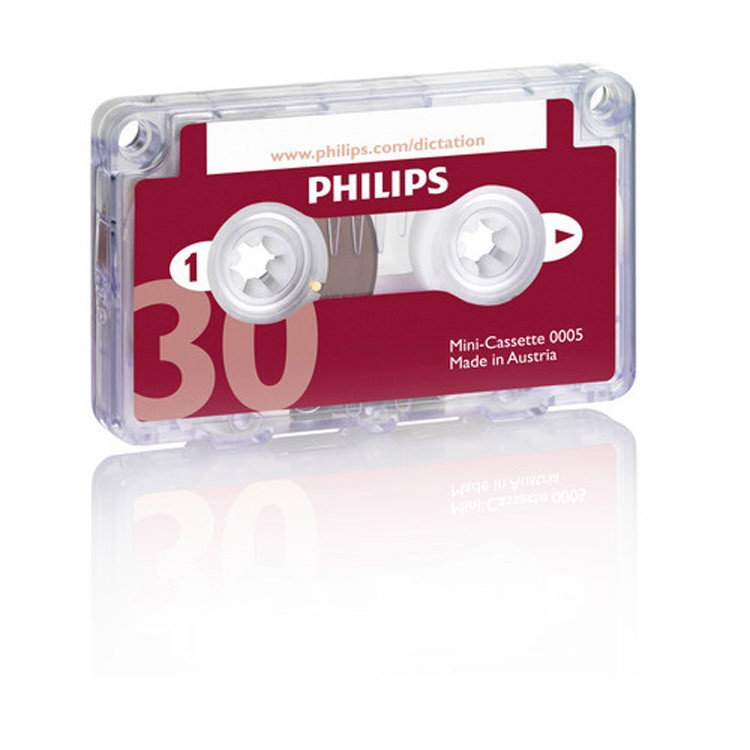 Philips Mini-cassette Tape 30 Minute Box of 10