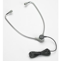 Aluminum Hinged Stethoscope Style Headset with 10' Cord AL-60L