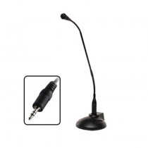 "18"" Gooseneck Microphone with Stereo 3.5 mm plug"