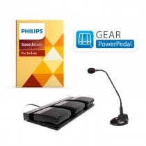 Gear PowerPedal Non Waterproof Foot Pedal Control w/ Philips Speechexec Pro Dictate Software
