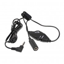 Headset Cord Extender with Volume Control and Stereo to Mono Switch