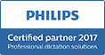 Philips Certified Partner 2017 - Professional Dictation Solutions